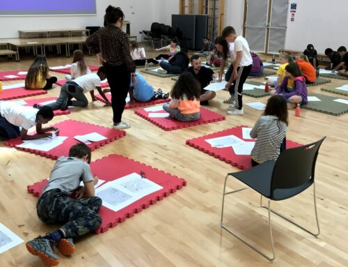 Socially distanced workshops with students at Tufnell Park Primary School