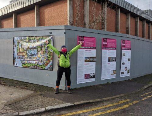 New artwork on hoardings at Holloway Prison